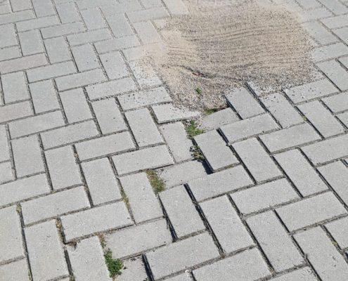 verzakt straat werk